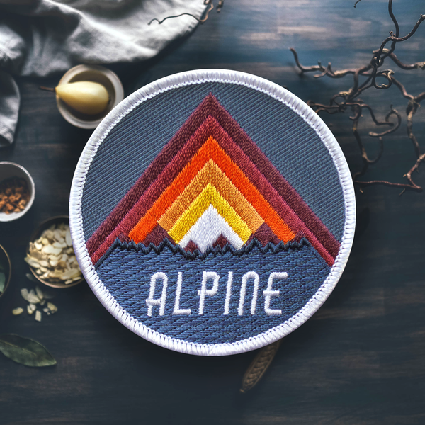 Alpine Mountain Hiking Patch