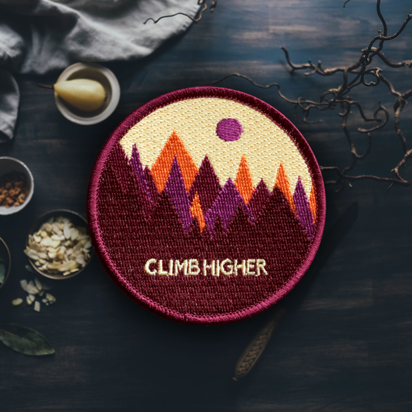 Colorful Mountain Patch (Maroon)
