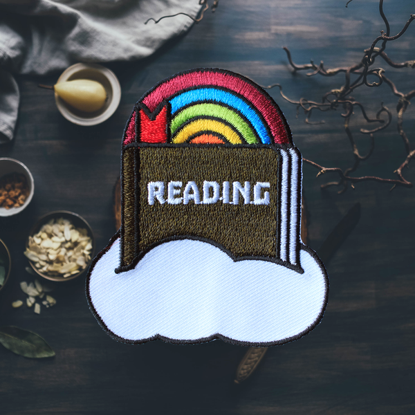 Reading in the Clouds Patch (Iron On Patch)