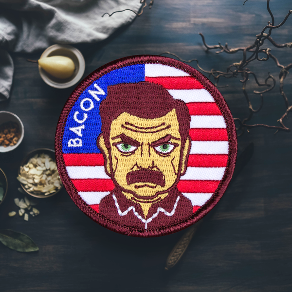 Bacon, Wood, Whiskey and Ron Patch