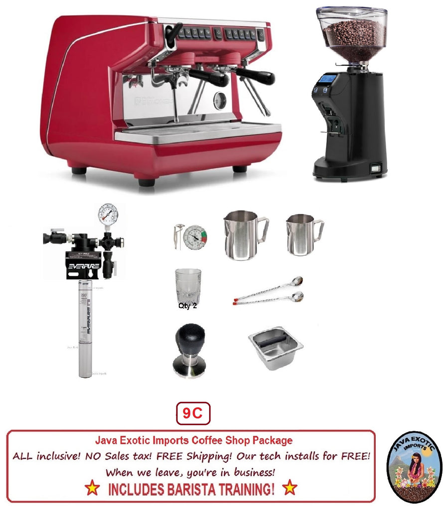 Simonelli Appia LIFE Compact Volumetric Commercial Espresso Machine Package 110V / 220V