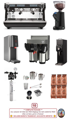 Coffee Shop Espresso Package with Simonelli Appia Life Training!