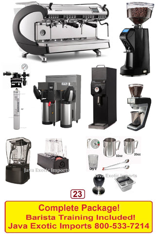 Simonelli Aurelia Wave Coffee Espresso Shop Smoothie Package! Barista Training Included!
