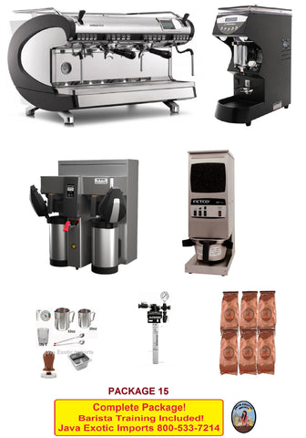 Simonelli Aurelia WAVE DIGIT Espresso Coffee Shop PACKAGE - NO Tax! INCLUDES Training! - Java Exotic Imports