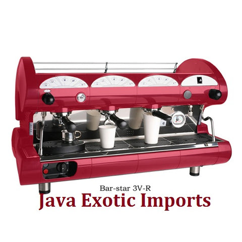 La Pavoni Bar Star Volumetric 3 Group Commercial Espresso Machine at Java Exotic Imports - Lowest Prices, Free Shipping, NO TAX!