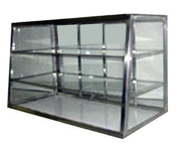 CARIB 3T Glass Bakery Display 2 Compartment - Java Exotic Imports