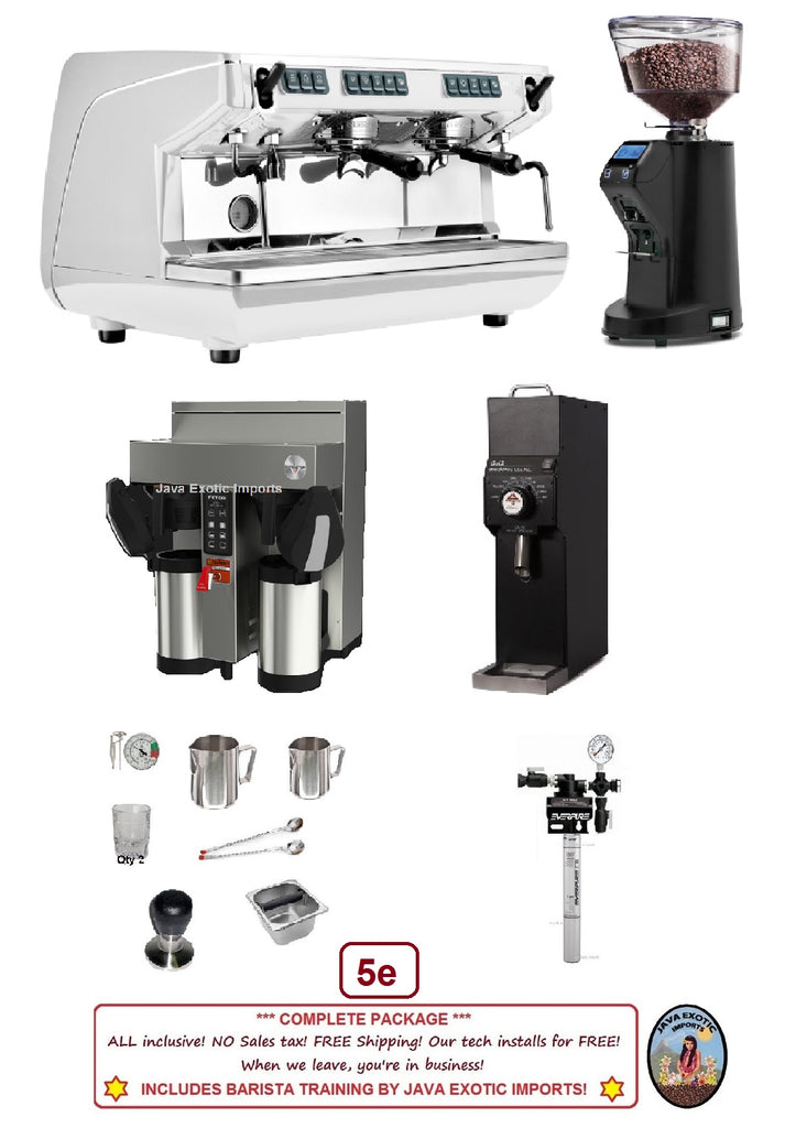 SIMONELLI APPIA + COFFEE BREWER PACKAGE + BARISTA TRAINING
