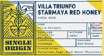 Costa Rica - Villa Triunfo Starmaya Red Honey Coffee - Free Shipping - Java Exotic Imports