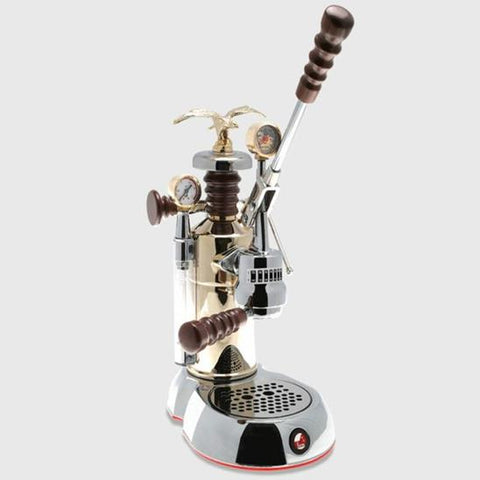 Photo of La Pavoni Esperto, Competente | Chrome / Brass | Sold at Java Exotic Imports 800-533-7214