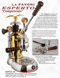 Photo of La Pavoni Esperto, Competente | Chrome / Brass | Commercial and home Espresso machines sold at Java Exotic Imports 800-533-7214