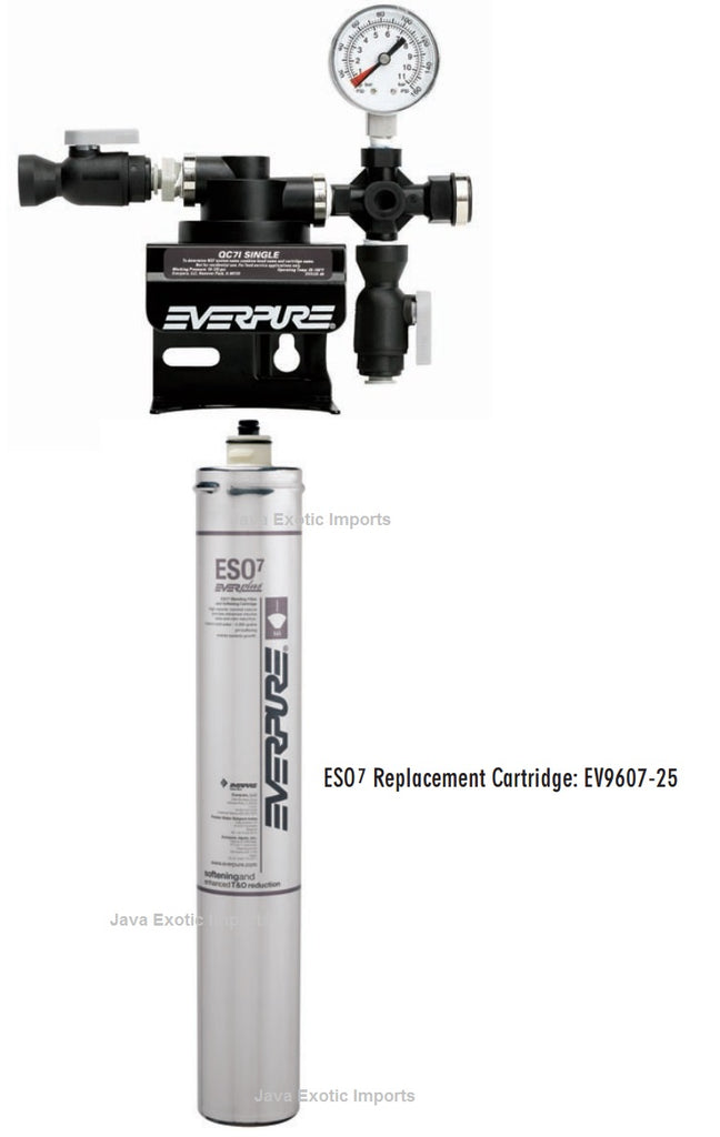 Everpure QC7i Single Filter Head and ESO7 Softener Cartridge - Java Exotic Imports