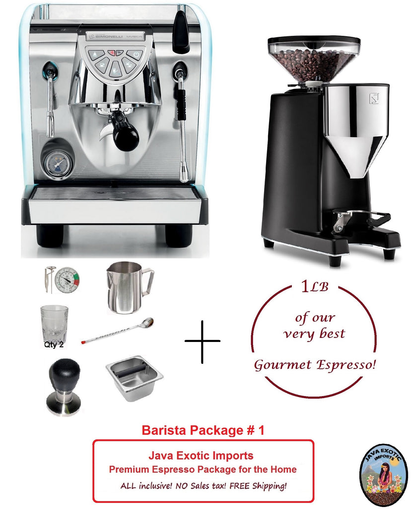 Simonelli Musica LUX Pour Over Premium Package - home or office - Java Exotic Imports