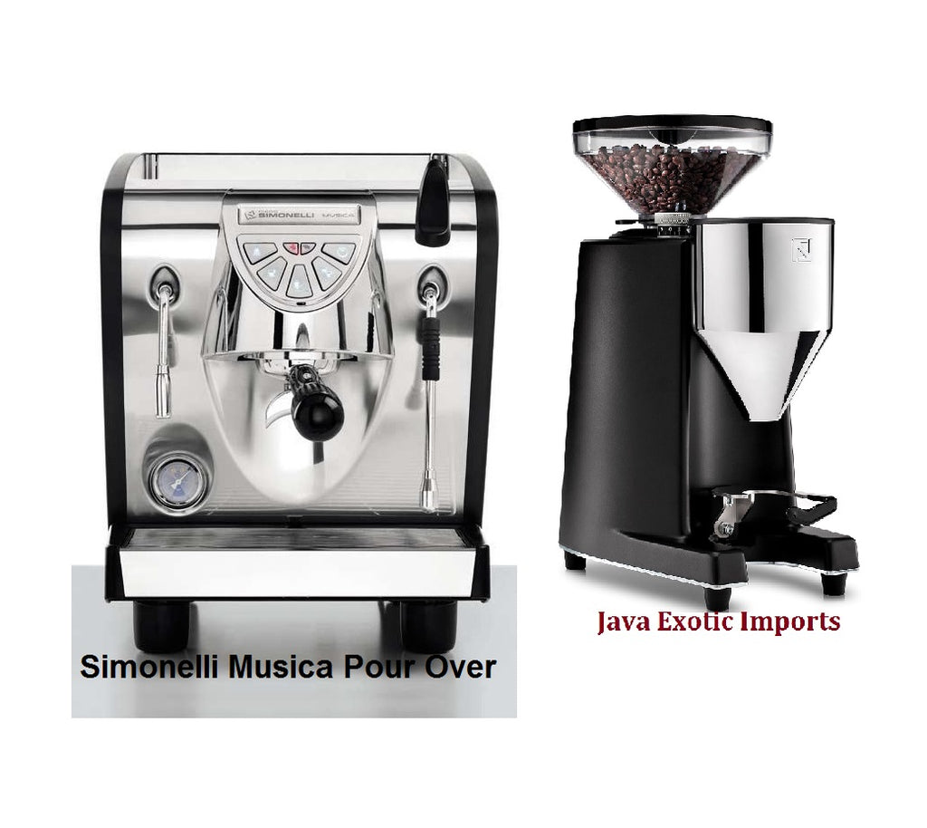 Simonelli Musica Black Pour Over + G60 Espresso Grinder Package - Java Exotic Imports