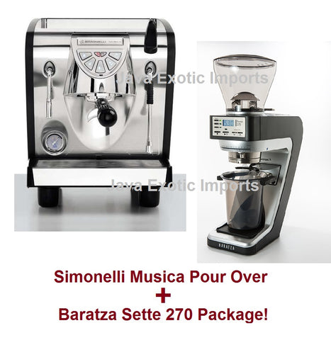"Simonelli Musica Black POUR OVER Package + Barista Kit ***USE CODE ""Musica100off"" for $100 off Until Sept 5th/19*** - Java Exotic Imports"