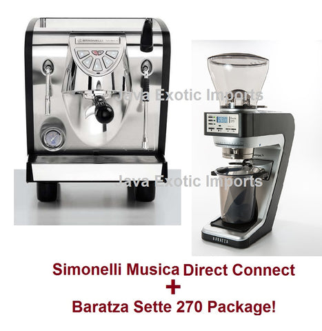 Simonelli Musica Black Trim Direct Connect Package + Barista Kit - Java Exotic Imports