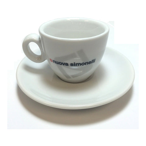 Nuova Simonelli ESPRESSO COFFEE CUP with Saucer - Java Exotic Imports