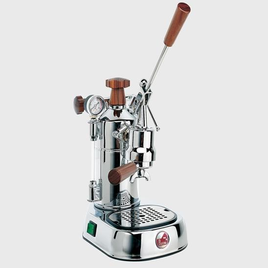 La Pavoni Professional Chrome w/ Wood, PCW-16