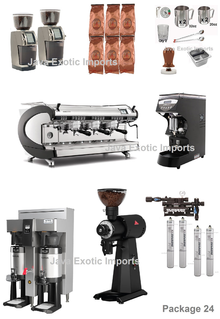 High Volume Coffee Shop PACKAGE Deal! Installation + BARISTA TRAINING INCLUDED! - Java Exotic Imports