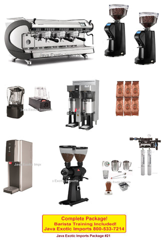 Coffee Shop Package with Simonelli Aurelia WAVE Digit 3 Group Espresso Machine - Java Exotic Imports