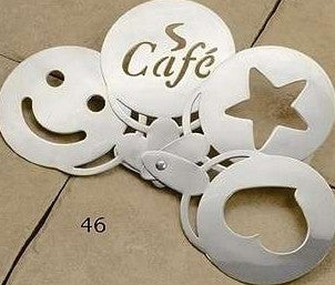 Stainless Steel Coffee Stencil 4-Set
