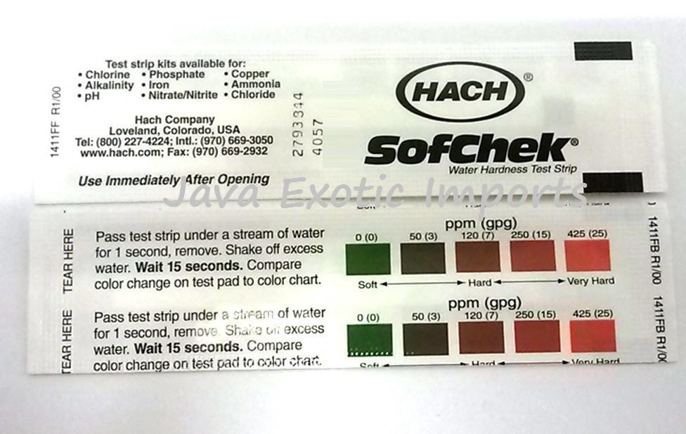 Water Hardness Test Strips - Java Exotic Imports