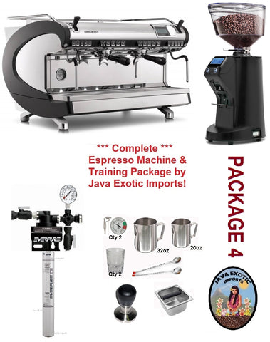 Simonelli Aurelia WAVE Digit + Coffee Shop Package! Includes BARISTA TRAINING! - Java Exotic Imports