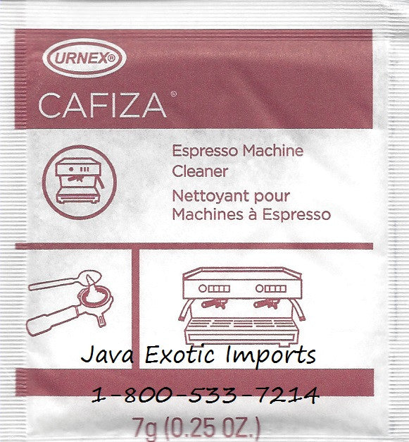 Cafiza Espresso Machine Cleaner - 7g Packs - Java Exotic Imports