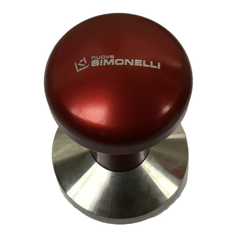 58mm Simonelli Professional Tamper - RED - Java Exotic Imports