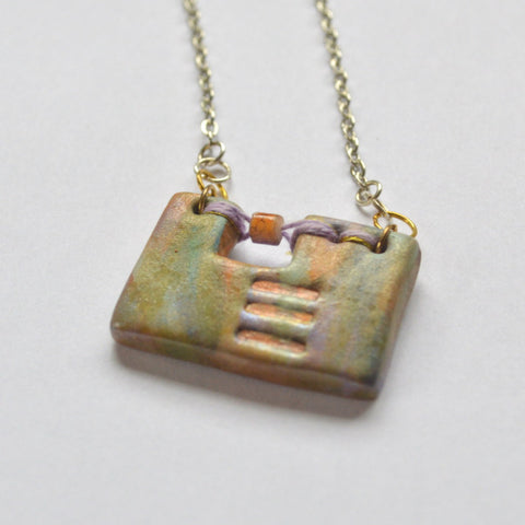"Abstract Art ""Joanna"" Pendant and Necklace"
