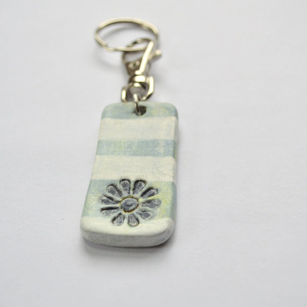 Chippy Blue and White KeyChain
