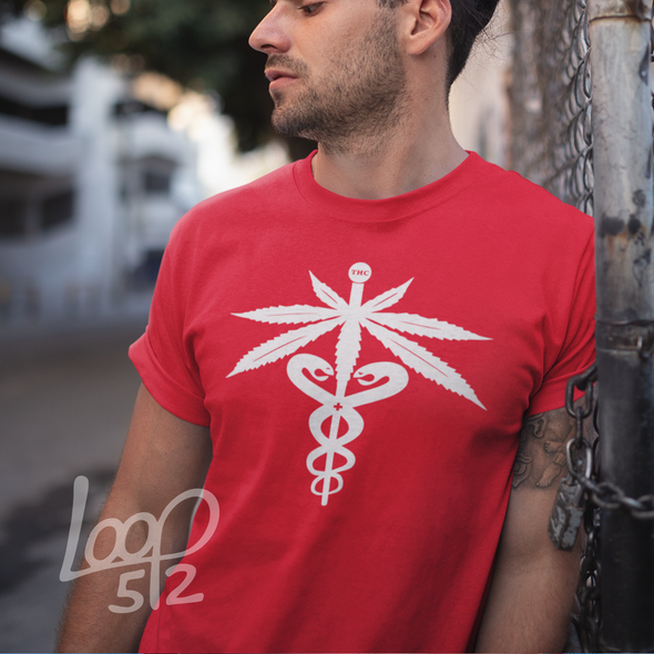 Young man wearing a four twenty cadecues - real red- Unisex