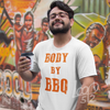 Man wearing Body by BBQ Tee unisex frost white