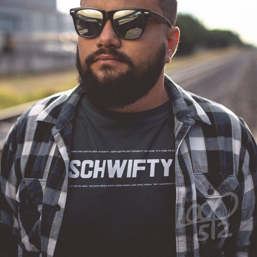 Model wearing Schwifty - deep black - Unisex