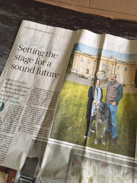 An article on life at Inchyra in the Sunday Telegraph recently