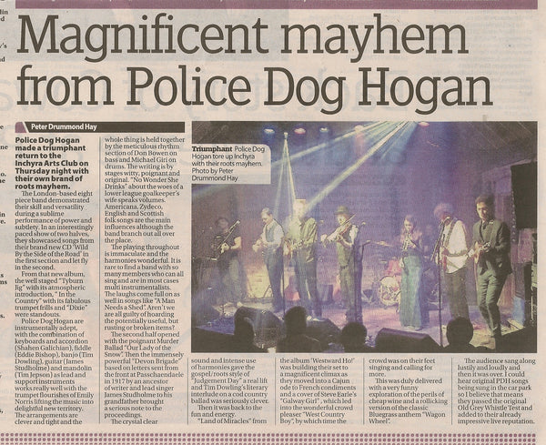 Police Dog Hogan at Inchyra Arts Club 2/3/17