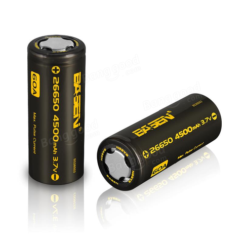 BASEN IMR 26650 4500mAh 60A flat top battery