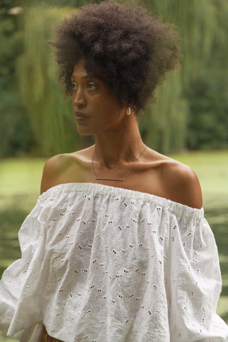 Botanical Boat Neck Top