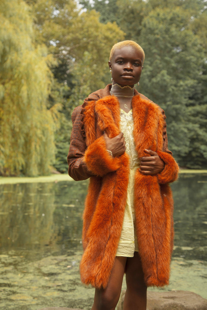 House of Aama Faux Fur Coat