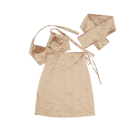Champagne Nude Silk Set