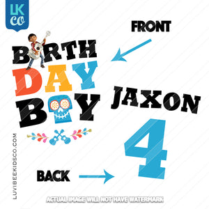 Coco Iron On Transfer | Birthday Boy Front & Back Design - DIGITAL FILE ONLY - LuvibeeKidsCo
