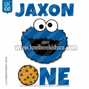 Sesame Street Iron On Birthday Shirt Design | Cookie Monster with Cookie