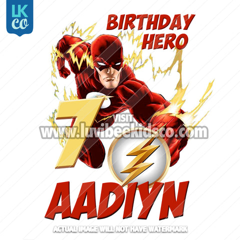 The Flash Heat Transfer Design - Birthday Hero - LuvibeeKidsCo