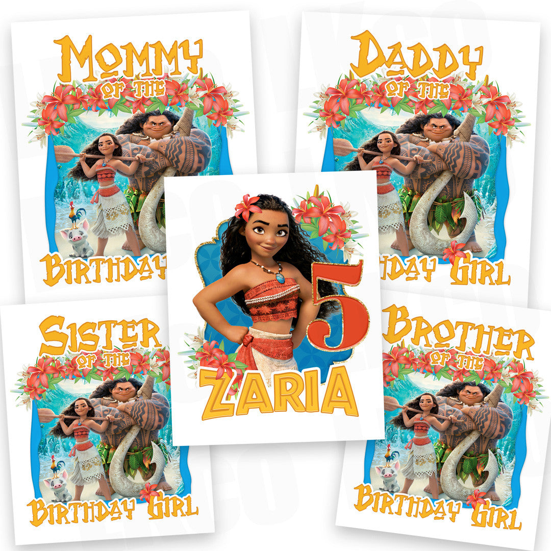 Moana Iron On Transfers Family Pack - LuvibeeKidsCo