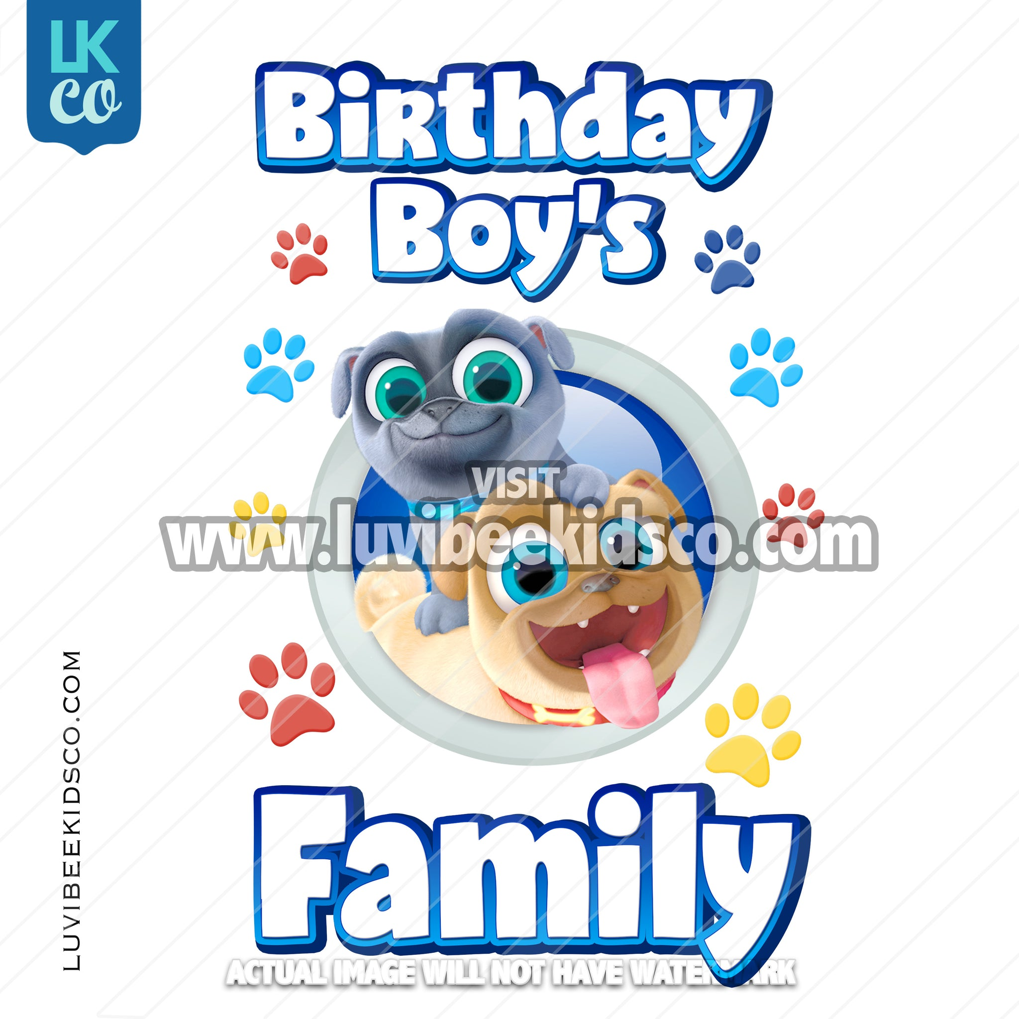Puppy Dog Pals Iron On Transfer | Add Family Members - Style 2 - Boy or Girl - LuvibeeKidsCo