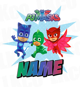PJ Masks Iron On Transfer | Add Family Members