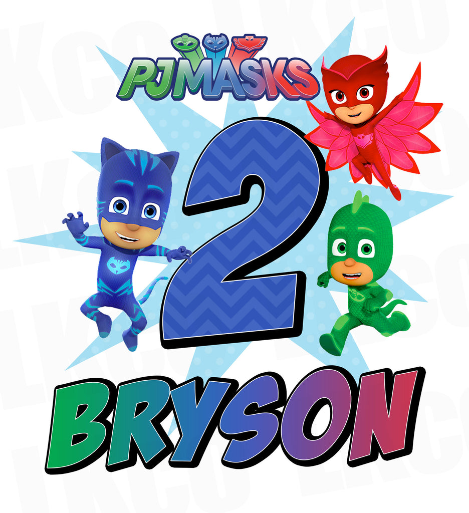 pj masks iron on transfer luvibeekidsco