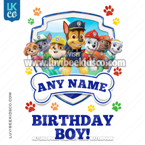 Paw Patrol - Blue - Birthday Boy - All Pups - LuvibeeKidsCo