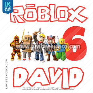 Roblox Digital File [12-24hr email] for Birthdays and Events - Any Name and Age