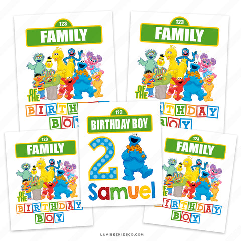 Sesame Street Iron On Transfers Family Pack | Cookie Monster | Birthday Boy
