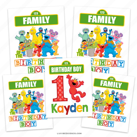 Sesame Street Iron On Transfers Family Pack | Elmo | Birthday Boy